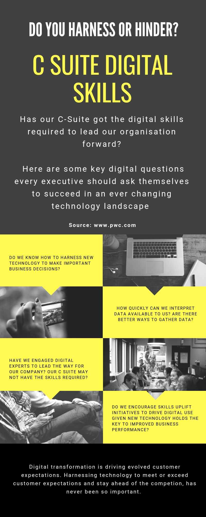 C Suite Digital Skills Infographic