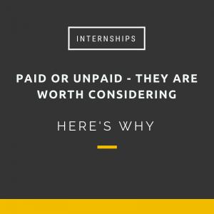 Internships are worth consdidering