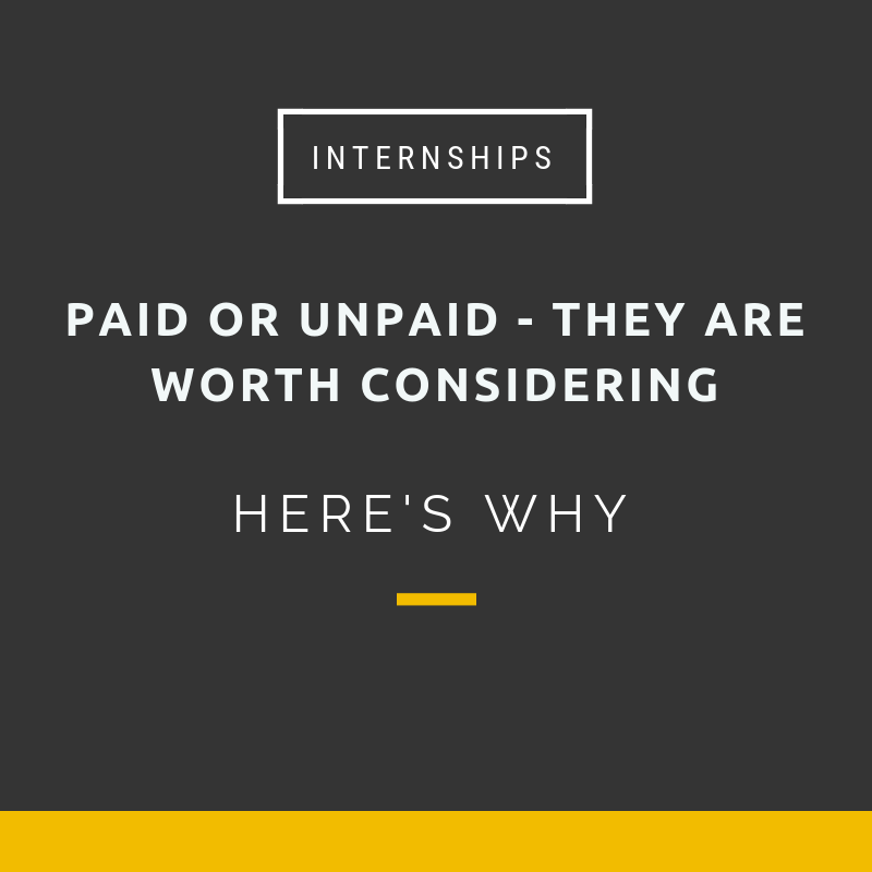 Internships are worth consdidering