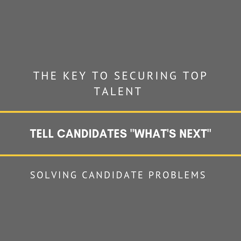 Telling candidates what is next
