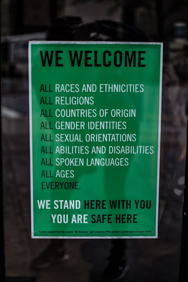 Diversity and Inclusion sign