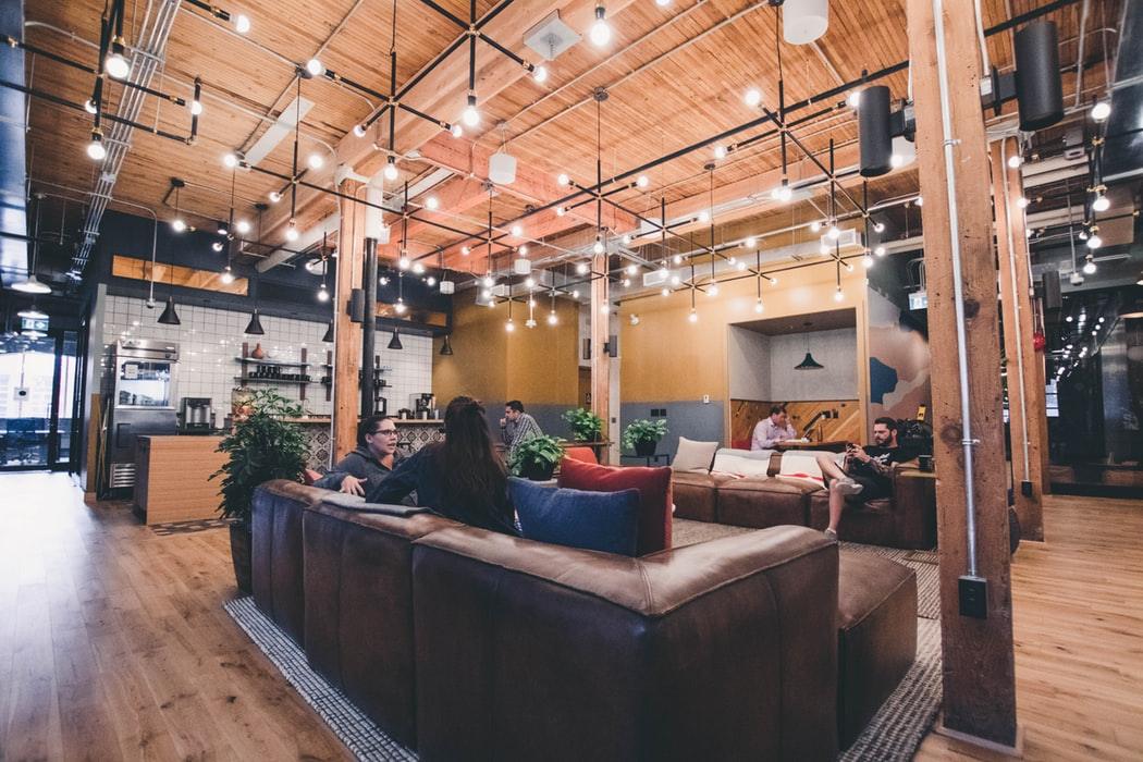 couches in coworking space